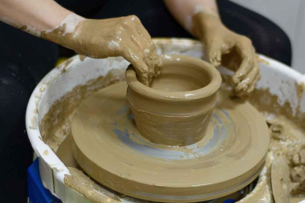 töpfern Kunst Keramik Ton